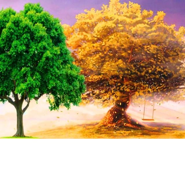 Простой способ нарисовать дерево/Объём и Пространство в рисунке