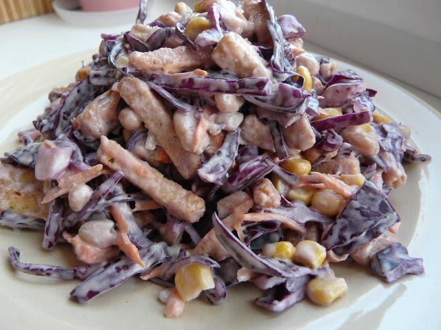 """ВКУСНЫЙ салат быстрого приготовления """"Хрустящий"""" Салаты рецепты на праздничный стол"""