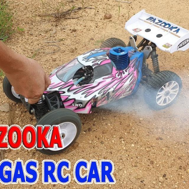 Test and Review 1/8 Bazooka Nitro Gas RC Car