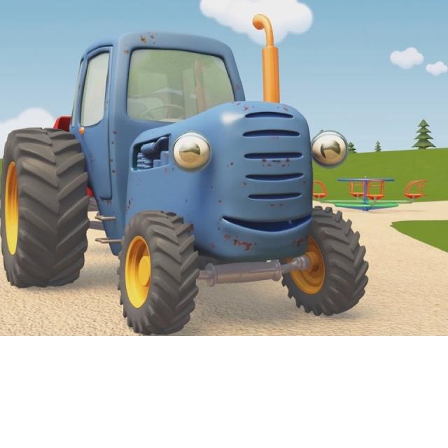 Синий Трактор Гоша | Лёгкое и тяжёлое или Застрявший мячик