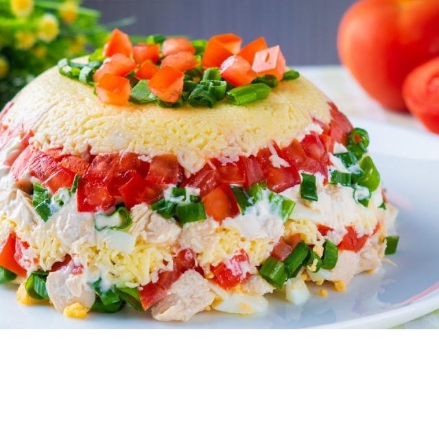 Салат МИНУТКА с Помидорами Просто, быстро и вкусно