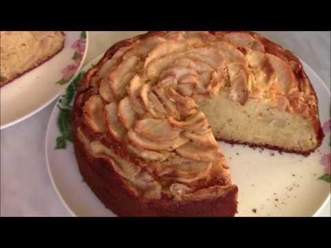 #Шарлотка. Как приготовить нежную,пышную и очень вкусную яблочную шарлотку с сыром маскарпоне.