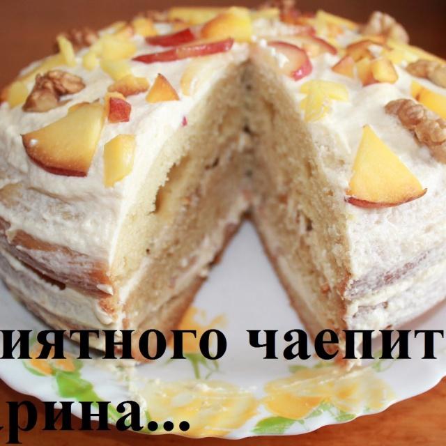 Вкусный торт с творожным кремом в мультиварке как приготовить вкусный торт