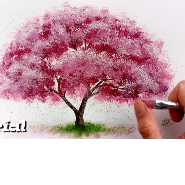 Как нарисовать дерево за 20 минут простая и необычная техника