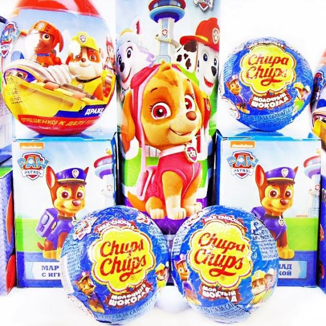 Щенячий патруль Mix СЮРПРИЗЫ с игрушками по мультику PAW PATROL Sweet Box Kinder Surprise unboxing