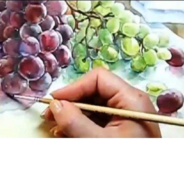 Как научиться рисовать Аппетитный Виноград