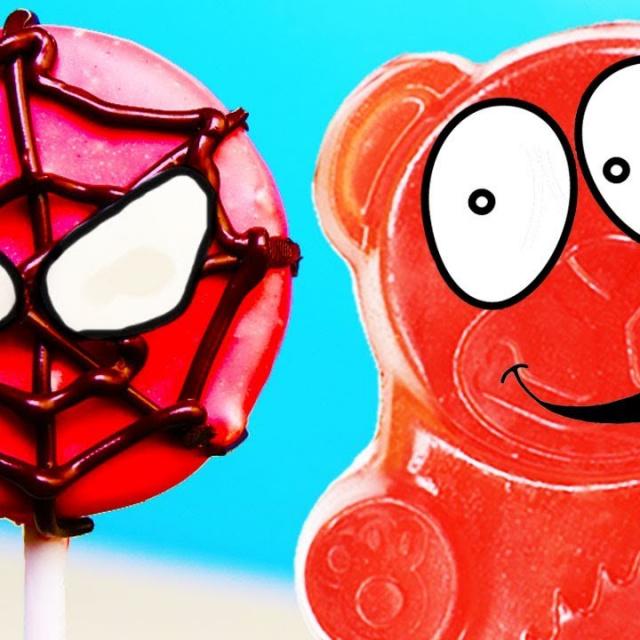 Валера Желейный Медведь | Крутая конфета спайдермен для желейного медведя Валеры