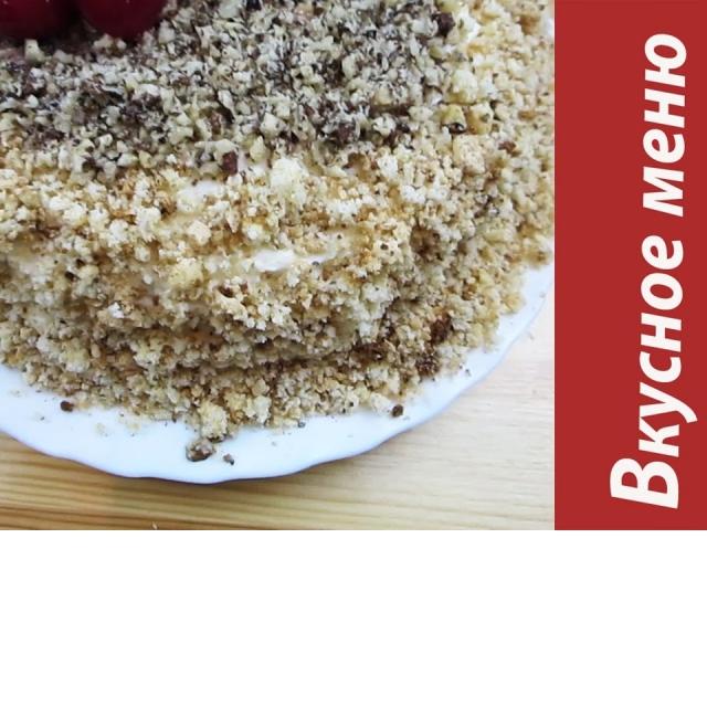 Домашний торт с вишней  Вкусное меню #45