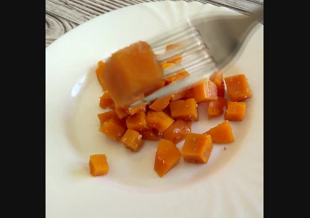 Десерт из тыквы за 5 минут. Вкусный завтрак гарантирован.