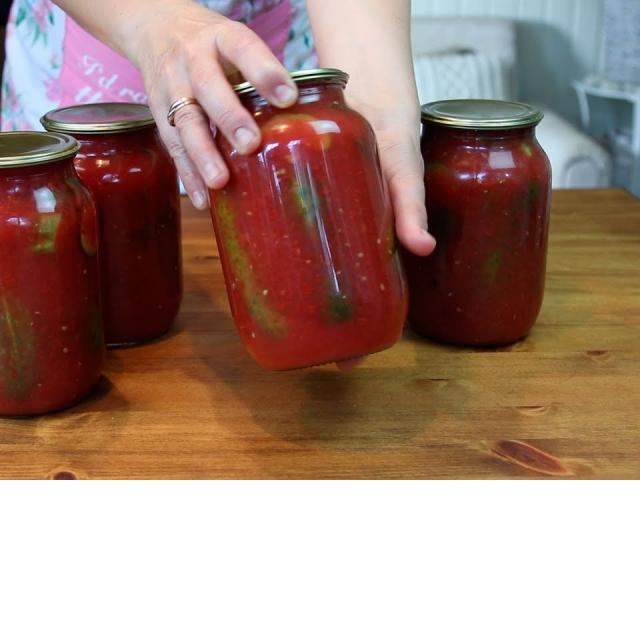 Огурцы в Томатной Заливке на зиму | Рецепт Ирины Хлебниковой