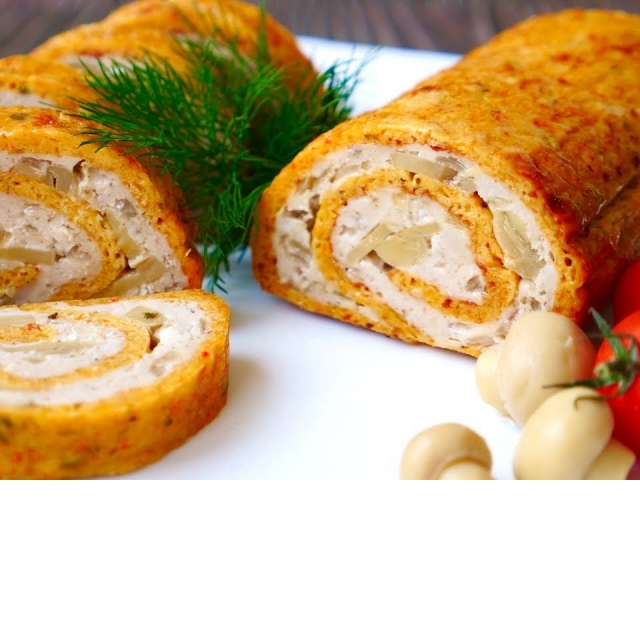 Куриный Рулет с Сыром  Рецепт Ольги Матвей