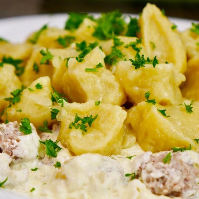 Картофельные Галушки с Вкусной Мясной Подливой | Немного Напоминают ПЕЛЬМЕНИ Ольга Матвей
