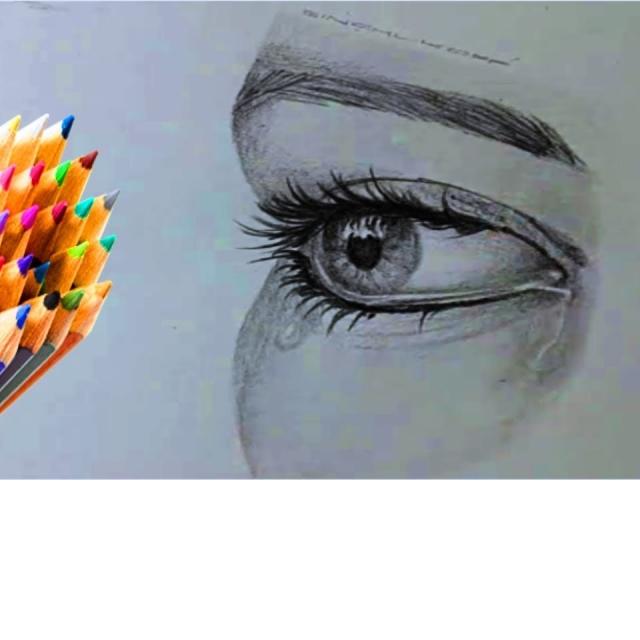 Как нарисовать ГЛАЗА КАРАНДАШОМ / Учимся рисовать глаза простым карандашом