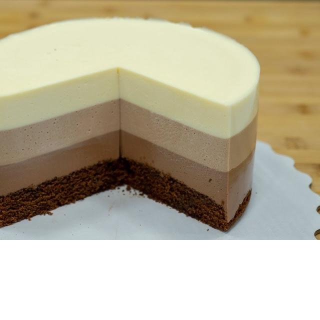 """Три шоколада"" на СМЕТАНЕ Муссовый торт - Я - ТОРТодел"