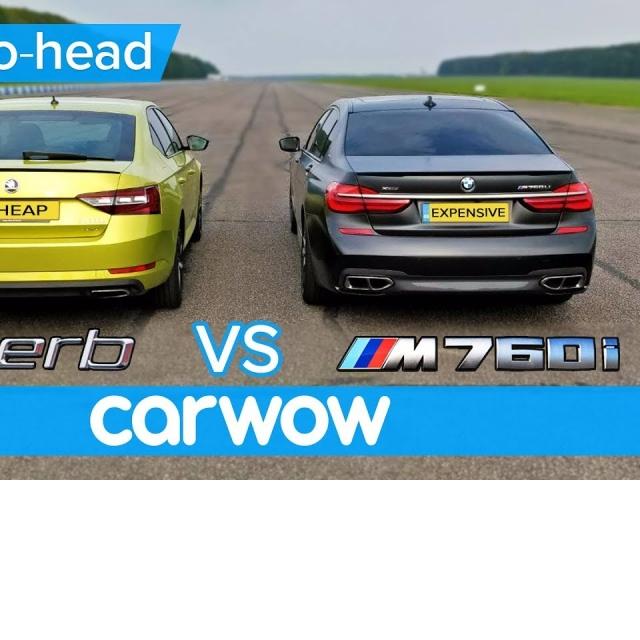 BMW M760Li vs Skoda Superb 280 DRAG RACE OVERTAKE BRAKE & LUXURY challenge   Expensive vs Cheap