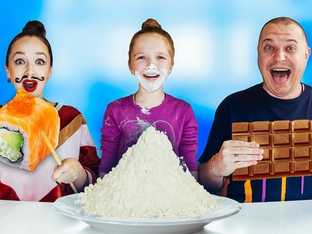 РОЛЛЫ, ШОКОЛАД или ВЫПОЛНИ ЗАДАНИЕ ЧЕЛЛЕНДЖ ! VALENSIA LUCKY FAMILY
