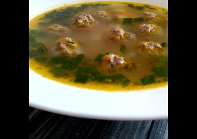 Вкусный суп с фрикадельками. И Маленький секретик.