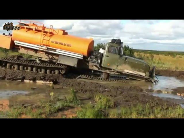Вездеход УРАЛ по БЕЗДОРОЖЬЮ севера России/Russian monster mud compilation