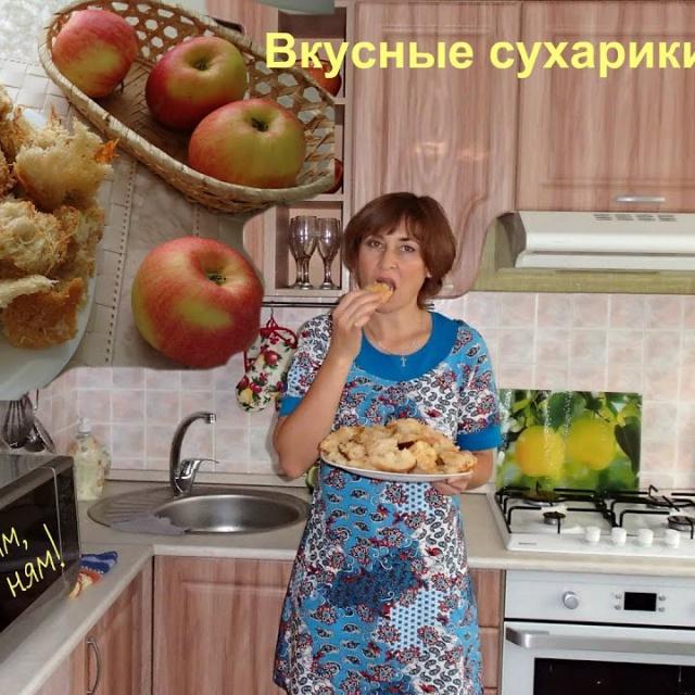 Ольга Уголок -  Вкусные сухарики с сыром в духовке.