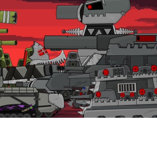 Все серии Мега битва монстров, Мультики про танки