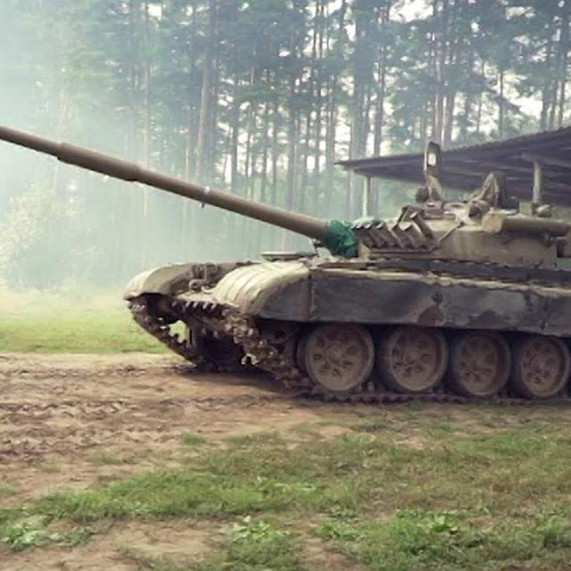 Контуры Тест-драйв танка Т-72
