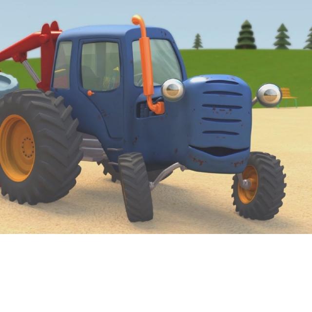 Синий Трактор Гоша | Большой грузовик на игровой площадке