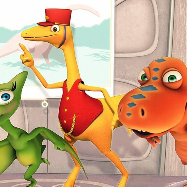 Мультфильм Поезд Динозавров-Путешествия во времени   Мультики про динозавров