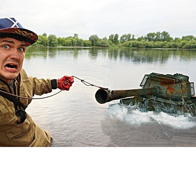 Эта гигантская жуткая находка была найдена где затонул танк с помощью поискового магнита