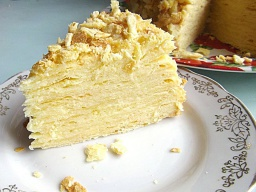 Торт «Наполеон»   Классический с заварным кремом
