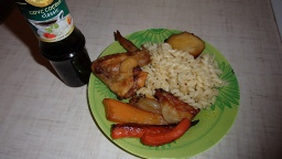 Ольга Уголок -  Курица с овощами в духовке.Вкусно, быстро, полезно.