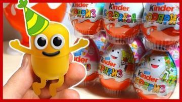 Живая капсула. 100 КИНДЕР СЮРПРИЗОВ. 100 Surprise Eggs. Kinder Surprise. Мультик.