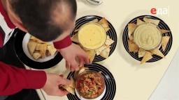 Лазерсон Закуска из помидоров (сальса) и чипсы из лепёшек Обед безбрачия