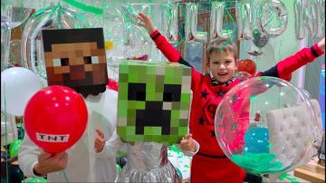 Мистер Макс 10 000 000 подписчиков Mister Max и Minecraft Party
