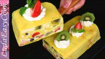 Сказочный Блинный муссовый торт солнечная масленица