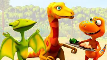 Мультик про Поезд Динозавров Путешествие Бадди в гости к Дейнонихам