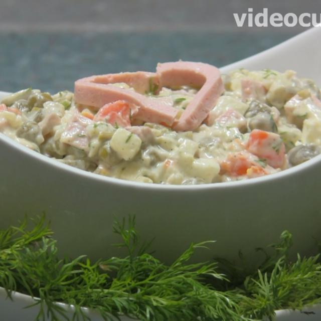 """Салат """"Оливье""""   Рецепт от Бабушки Эммы"""