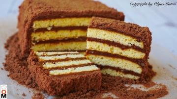 Торт 5 Ложек Давно забытый вкус из детства Рецепт Ольги Матвей