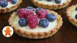 Корзиночки (тарталетки) с ягодами, белым шоколадом и маскарпоне  | Рецепт приготовления