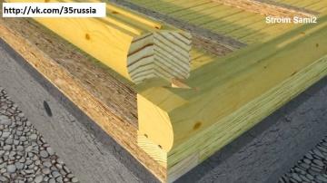 Баня-Соединение углов и бруса