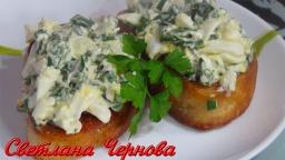 Гренки с зеленым луком и яйцом- на праздничный стол /Toast with green onions and egg | Рецепт Светла
