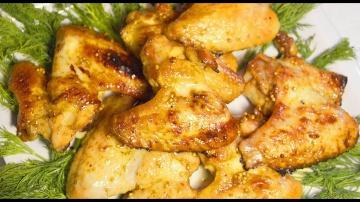 Куриные крылышки во вкуснейшем медовом  маринаде, запеченные в духовке ► Пошаговый простой рецепт