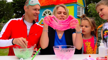 Мистер Макс Три ЦВЕТА лизун челлендж РОДИТЕЛИ все смогут... 3 colors SLIME challenge PARENTS edition