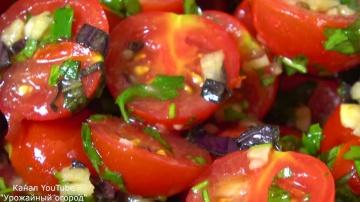 Самая вкусная закуска из томатов за 30 минут   Рецепт от Урожайный Огород