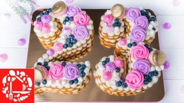 Торт ЦИФРА на День Рождения | Рецепт Оксаны Пашко