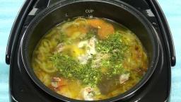 Куриный суп с вермишелью в REDMOND-M70 Видео рецепт