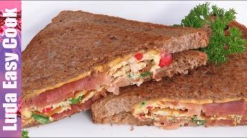 Позитивная Кухня СЫТНЫЙ ВКУСНЫЙ ЗАВТРАК ОМЛЕТ В ХЛЕБЕ Идеи для завтрака | Breakfast Omelette Sandwic