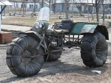 Самодельные вездеходы из мотоциклов  своими руками/ Самоделкины из России