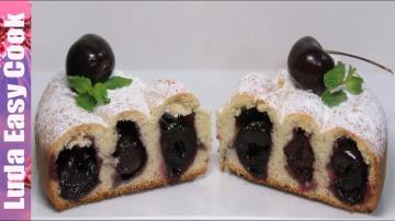 Позитивная Кухня СПИРАЛЬНЫЙ ПИРОГ С ЧЕРЕШНЕЙ Очень Нежный и Вкусный | Cherry Pie Recipe