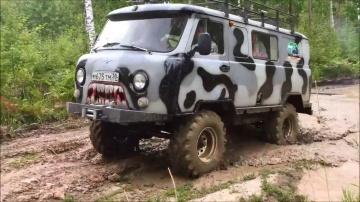 спонтанная вылазка УАЗ 452 бездорожье 4x4