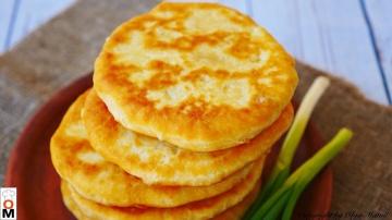 Пышные Лепешки на кефире Очень простой и вкусный рецепт
